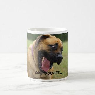 Good Morning - Yawning English Mastiff Dog Coffee Mug