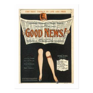 Good News! Vintage Songbook Cover Postcard