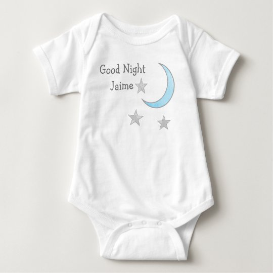 Good Night (Baby's Name) Blue Moon and Stars