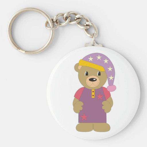 Good Night Bear Keychain