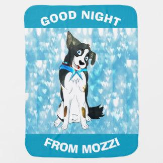 Good Night Boys From Mozzi Baby Blanket