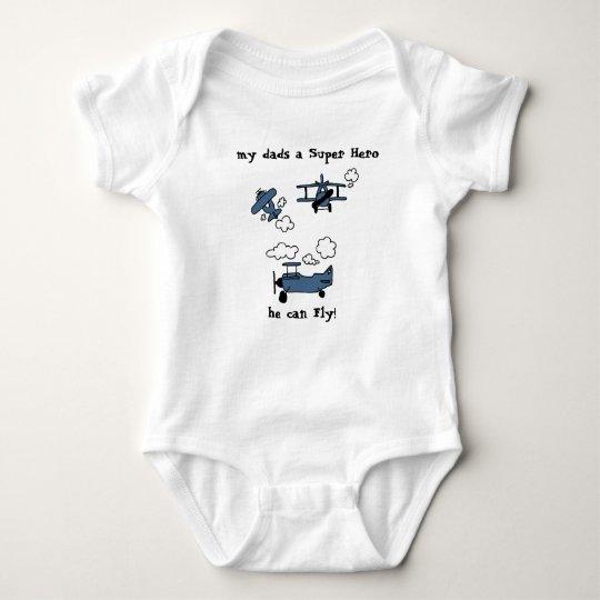 Good Night Bye Bi-Planes Super Hero Baby Bodysuit