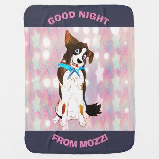 Good Night Girls From Mozzi Baby Blanket