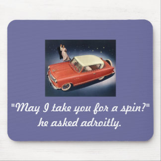 """Good Night, Irene!"" Vintage Car Magnet Mouse Pad"
