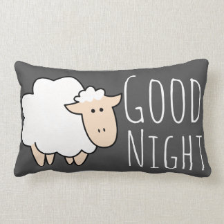 Good Night Sleep Cute Sheep Lumbar Cushion