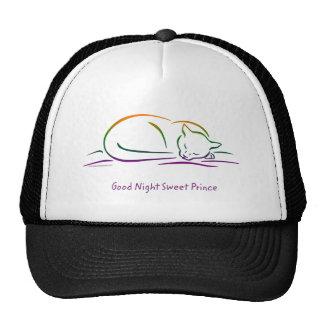 Good Night Sweet Prince Cat Trucker Hat