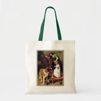 Good Night - with St. Bernard Tote Bag