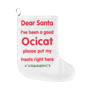 good Ocicat Large Christmas Stocking