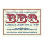 Good Old BBQ Country Style Party Invitation