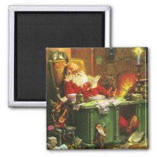 Good Old Santa Claus Square Magnet