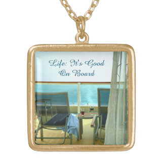 Good On Board Square Pendant Necklace
