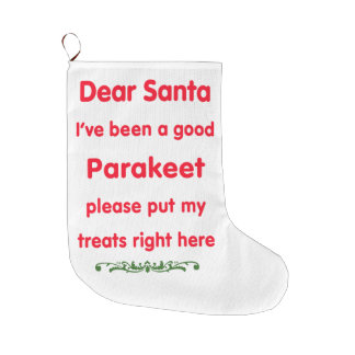 good Parakeet Large Christmas Stocking