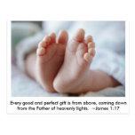Good & Perfect Gift ~ Pregnancy Announcement Postcard