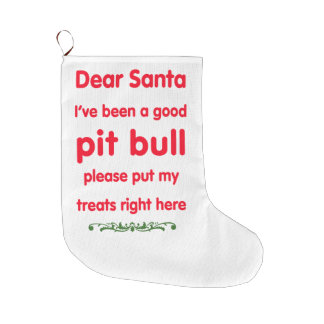 good pit bull large christmas stocking