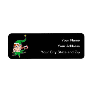Good Pixie on Black Mailing Label Return Address Label