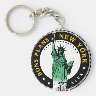 Good Plans for a voyage to New York Key Ring