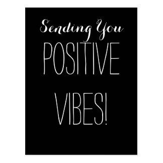 Good Positive Vibes Black and White Spiritual Postcard