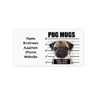 good pugs gone bad address label