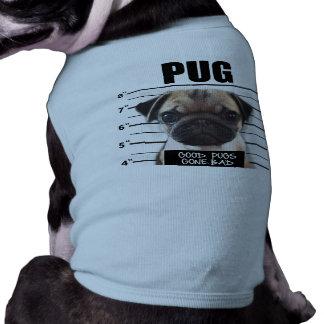 good pugs gone bad sleeveless dog shirt