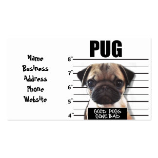good pugs gone bad pack of standard business cards