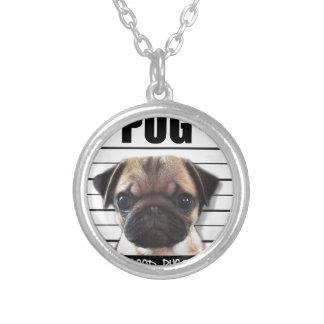 good pugs gone bad round pendant necklace
