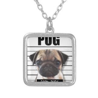 good pugs gone bad square pendant necklace