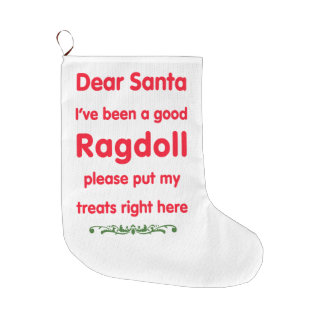 good Ragdoll Large Christmas Stocking