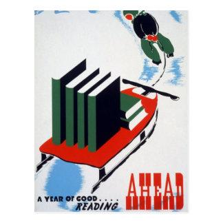 Good Reading Ahead Postcard
