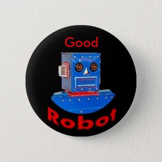 Good Robot Blue 6 Cm Round Badge