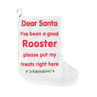 good Rooster Large Christmas Stocking