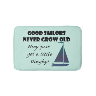 Good Sailors Never Grow Old, Fun Bath Mat