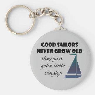 Good Sailors Never Grow Old, Fun Saying Basic Round Button Key Ring