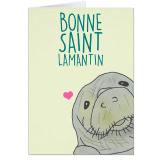 Good Saint Manatee Card