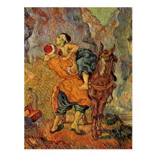 Good Samaritan (after Delacroix), Vincent van Gogh Postcard
