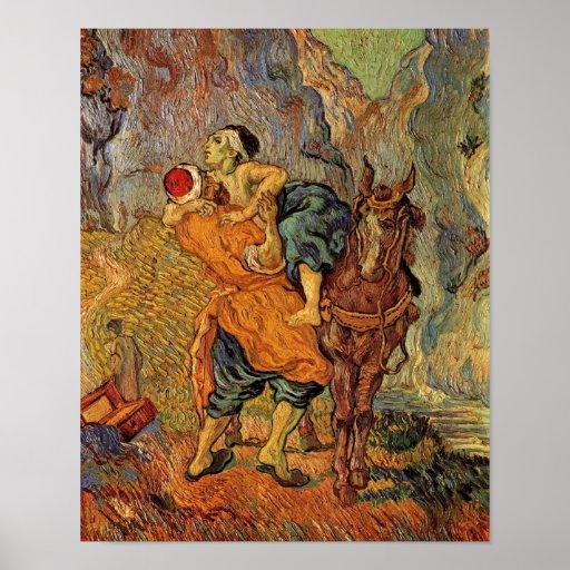 Good Samaritan (after Delacroix), Vincent van Gogh Print