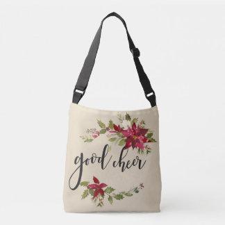 Good Sheer Poinsettias And Flower Decor Crossbody Bag