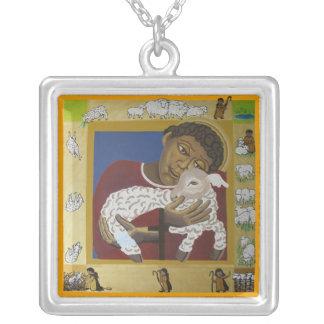 Good Shepherd icon Square Pendant Necklace