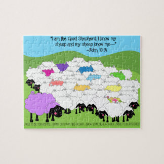 Good Shepherd Unique Sheep Puzzle