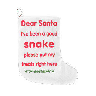 good snake large christmas stocking