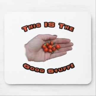 Good Stuff Cascabel Hot Pepper Design Image Mouse Pads