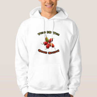 Good Stuff Five Habanero Hot Pepper Design Hooded Pullovers