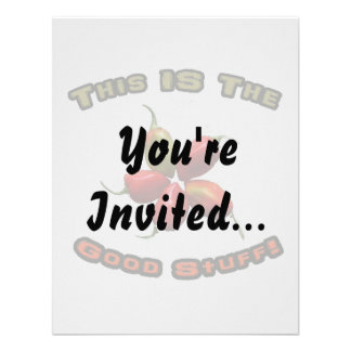 Good Stuff Five Habanero Hot Pepper Design Personalized Invite