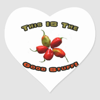 Good Stuff Five Habanero Hot Pepper Design Stickers