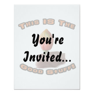 Good Stuff Habanero Flame Hot Pepper Design 4.25x5.5 Paper Invitation Card
