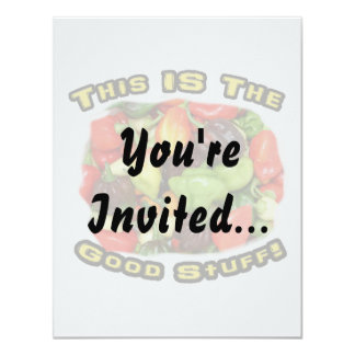 Good Stuff Hot Pepper Pile Design Image 4.25x5.5 Paper Invitation Card