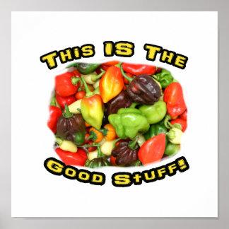 Good Stuff Hot Pepper Pile Design Image Poster