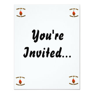 Good Stuff Single Habanero Hot Pepper Design 11 Cm X 14 Cm Invitation Card