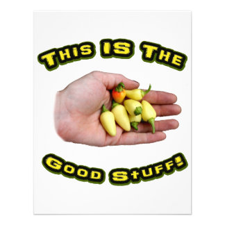 Good Stuff White Hot Peppers in Hand Design Personalized Announcements