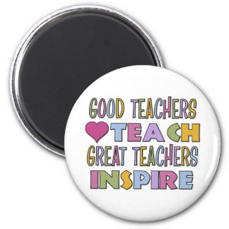 Good Teachers Teach 6 Cm Round Magnet