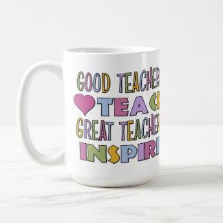 Good Teachers Teach Basic White Mug